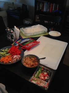 Sushi rolling set up