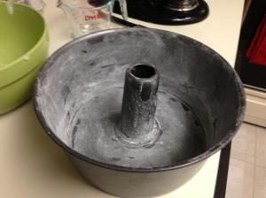 floured pan