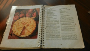 My mom's well loved, ripped, and beat-up cookbook